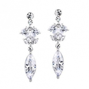China Quality Teardrop Cubic Zirconia Earrings Item: E0073 on sale