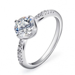 China Diamonds Are Forever Class Engagement Ring Item: R0133 on sale