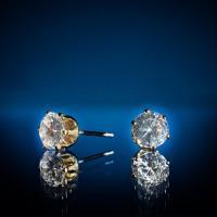 Hot Selling Cubic Zirconia Stud Earrings Item: E0001