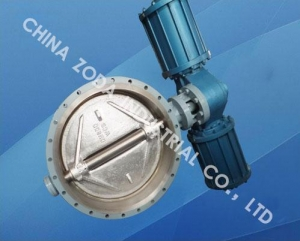 China Pneumatic Butterfly Valve, Flanged type, API/DIN/GOST/JIS Standard. on sale