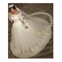 2016 Ball Gown Wedding Dresses Long Sleeves Off Shoulder High Quality Bridal GownsItem Code: WE0122
