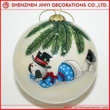 China hand painted glass ball on sale
