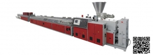 China Contact Now wpc profile extrusion line PE, PVC, WPC Wood Plastic Profile Extrusion Line on sale