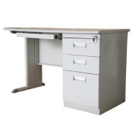 China Pratical design office use metal computer table with iron key board on sale