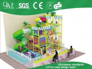 China candy theme indoor adventure playground equipment for children on sale