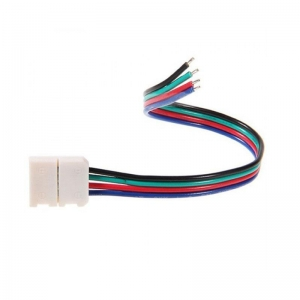 China 5.5*2.1mm Female Power Connector to 8mm/10mm Single Color LED Strip Light Solderless Connectors on sale
