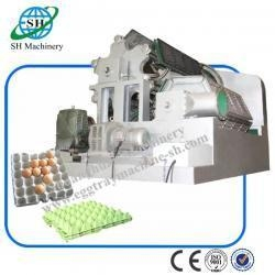 China Double Rolling Paper Pulp Egg Tray Machine with Forming Mold Easy Operation on sale