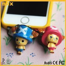 China Custom 3.5mm Earcap Anti-dust Plug,OEM plastic Cartoon Character Cell Phone for sale on sale