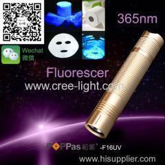 China POPPAS F16UV Portable High Power laser pointer Led 395NM UV Flashlight Torch on sale