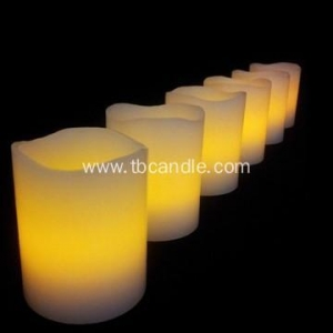 China Flameless LED pillar candles with straight edge on sale