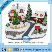 OEM ODM Resin Figurine Christmas House Children Decorating Christmas Trees