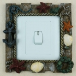 seashell light switch cover STL-1016