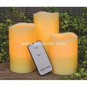 China three pcs decorative flameless LED candle with remote on sale
