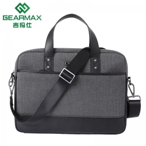 China Tweed&Leather laptop briefcase /laptop shoulder bag on sale