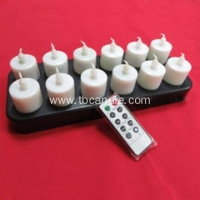 China Remoted ready inductive rechargeable LED tealight candle on sale