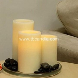 China Ivory color flickering LED candles set on sale