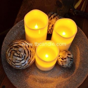 China Classic pillar flameless LED candle set on sale