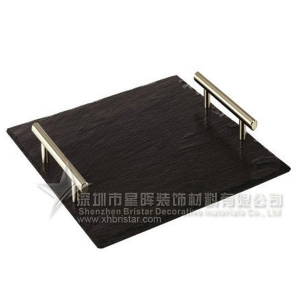 China Handle slate plate handle slate restaurant serving tray on sale