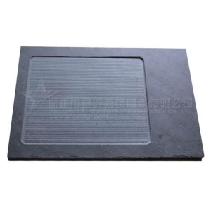 China Slate plate/slate dishes Brushed black slate cheese board on sale
