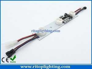 China Edge-lit RGB high power LED strip with lens on sale