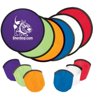 China Foldable Nylon Frisbee With Pouch on sale