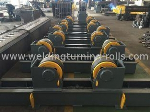 China Double Drive Welding Pipe Rollers Adjustable Pipe Stands With 350x120 Rubber Wheels on sale