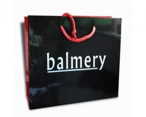 China black gloss lamination paper bags on sale