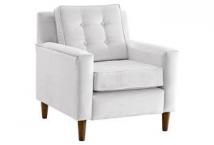 China Winston Chair, White Velvet, armchair turkish furniture on sale