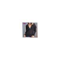 High Quality 100% polyester Women Black Zip-Up Hoodie Women Long Sleeve Hoodie