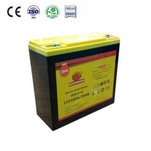 China 12V 18AH Electric bike motive battery on sale