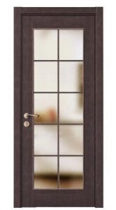China Modern Cherry Glass Interior Doors with Wood Frame MSPD33 on sale