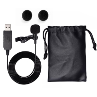 USB Microphone, [New Release] Punasi USB Light-weight Lavali