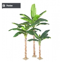 China High quality artificial decorative banana tree plants for out on sale