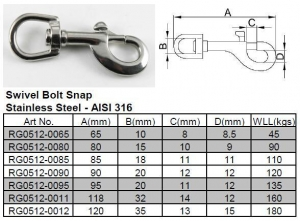 China Swivel Bolt Snap on sale