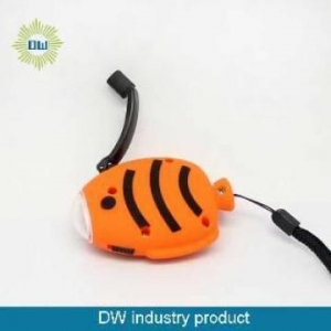 China Fish Shape Dynamo Flashlight on sale