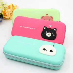China cartoon s-key candy color silicone multifunctional pencil case pencil box on sale