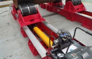 China 60T Cylinder Welding Hydraulic Rotator , Fit - up Tank Rotators on sale