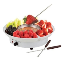 YK-218 Electric Chocolate Fondue Family Set White Color YK-218