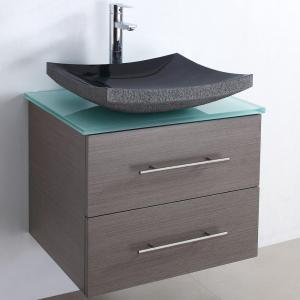 China Wood veneer bathroom cabinet SW-V004 on sale
