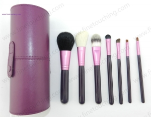 China 7pcs brush set in purple holder case Product IDPS0701 on sale