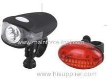 China Bicycle Light set (3 white + 2 red LED) on sale