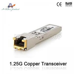 China 10/100/1000base-T Copper SFP Fiber Optic Transceiver on sale