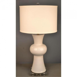 China Table lamp 28.5H White ceramic table lam on sale