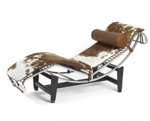China Cowhide/ponyskin furniture Le Corbusier LC4 chaise lounge chair on sale