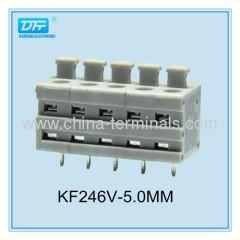 China 300V 8A PCB Screwless Spring Terminal Block Connector 5.0mm on sale