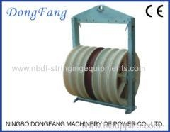 China Six bundled Conductor Stringing Pulleys With Seven wheels central steel sheave on sale