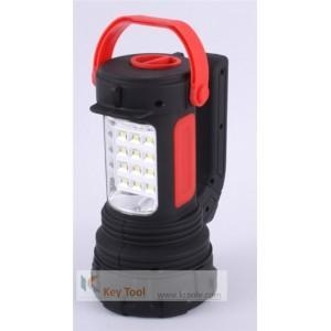 China SP03 AA Battery 250 Lumen Plastic LED Duo Lantern LED Spotlight With Swivel Handle on sale