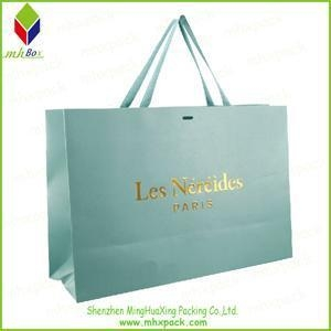 China Shoping Paper Bag with Gold Stamping Logo on sale