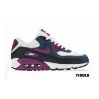 Cheap Nike Wmns Air Max 90 * White/Bright Grape-Obsidian-New Slate Outlet Online UX901908
