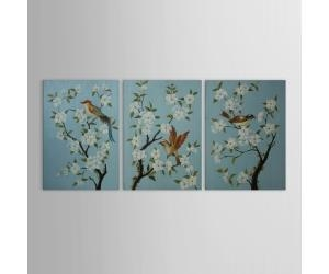 China Wood Wall Art Wall Decor, Retro Style Animal Birds And Blooms Wood Wall Dcor Set of 3 on sale